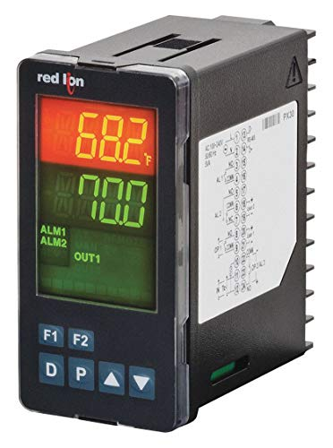 Red Lion Controls PXU10030 , Temperature Controller, PID, 1/8 DIN, Relay, AC, PXU Series ()