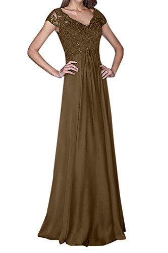 Hochzeits Mutterkleider La Elegant Abendkleider Lang Abschlussballkleider Spitze mia Braun Ballkleider Chiffon Fuer Braut 6Bq0BUAwWz