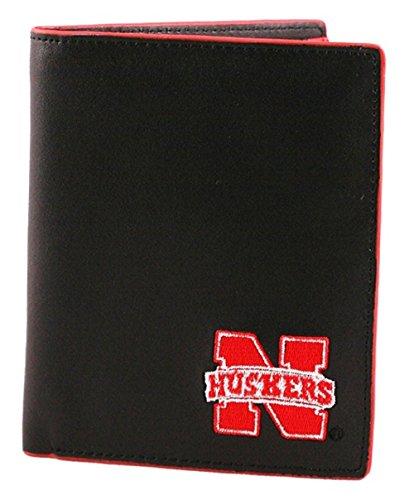 - SANDOL Nebraska Cornhuskers Men's Black and Red Hipster Wallet