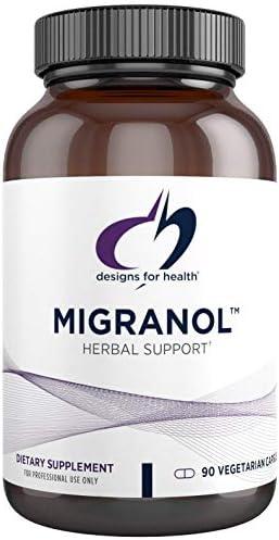 Designs for Health Migranol - Magnesium, Curcumin, Feverfew B2 Formula 90 Capsules