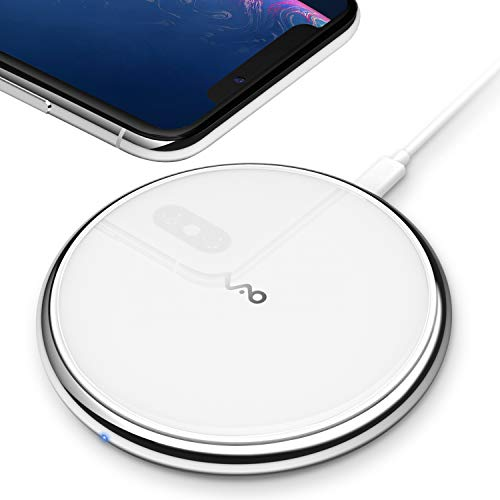 Vebach Fast Wireless Charger, Qi Certified Dubhe1 Wireless Charging Pad 7.5W Compatible with iPhone 11/11 Pro/11 Pro Max/Xs/Xs Max/Xr/X/8/8Plus, 10W Compatible with Samsung Galaxy Note 8 S7 S8 S9