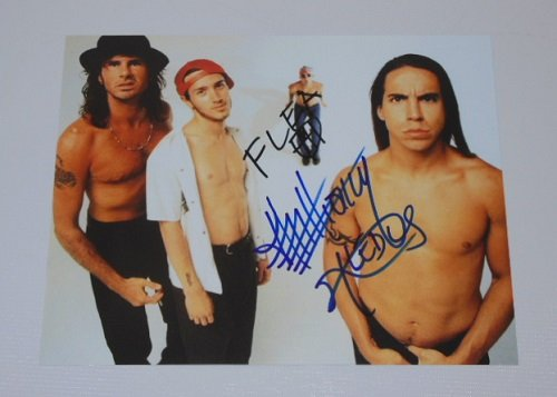Red Hot Chili Peppers Blood Sugar Sex Magik Flea Anthony Kiedis Signed Autographed 8x10 Glossy Photo - Hot Celeb Men