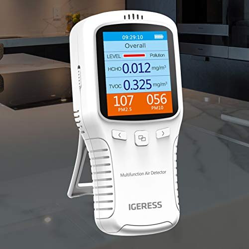 Test, Measurement & Inspection Test Meters & Detectors LCD Indoor Air Quality Monitor Formaldehyde Detector White