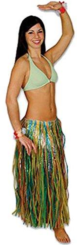 [New Hawaiian Tropical Luau Grass Hula Skirt Party Dress] (Hawiian Costumes)