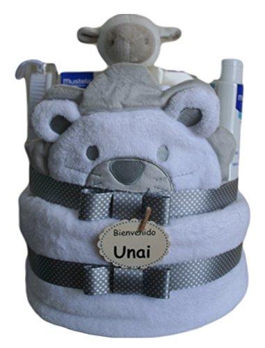 Tarta de Pañales Leoncito Mustela, regalo bebé recién nacido: Amazon ...