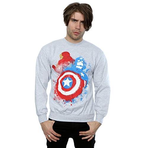 30% de descuento Marvel hombre Captain America Civil War Painted vs Iron  Man Camisa de 529b933361438