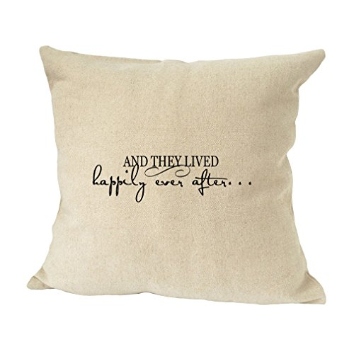 (Style In Print and They Lived Happily Ever After Sofa Bed Home Decor Faux Linen Pillow Cover )