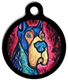 Colorful Great Dane - Custom Pet ID Tag for Dogs and Cats - Dog Tag Art
