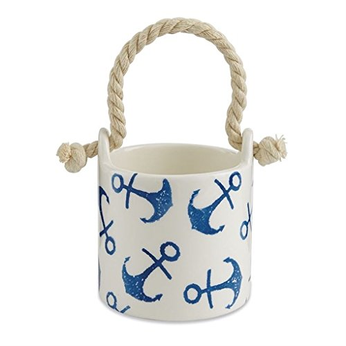 Mud Pie 4855081A Anchor Nut Bowl, One Size, Red/White/Blue by Mud Pie