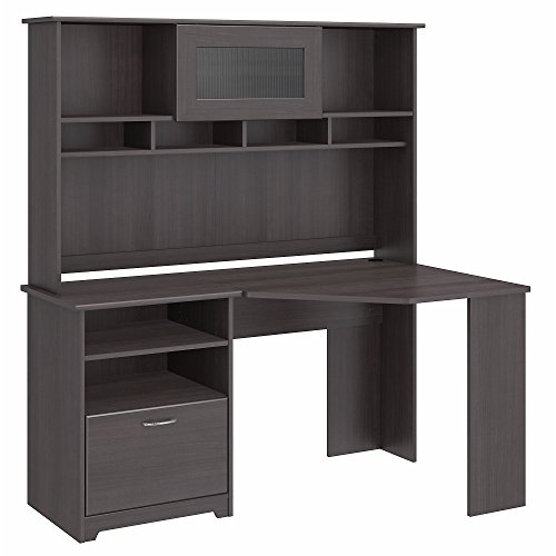 Bush Furniture Cabot Corner Desk with Hutch in Heather ()