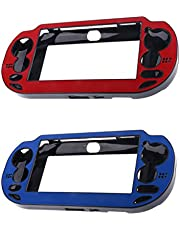2Pack Protective Case Wrap Cover for Sony PlayStation ps vita psv1000 Console Red With Blue