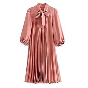 Ladies Stylish Texture Lantern Sleeve Loose Dress Florenoo