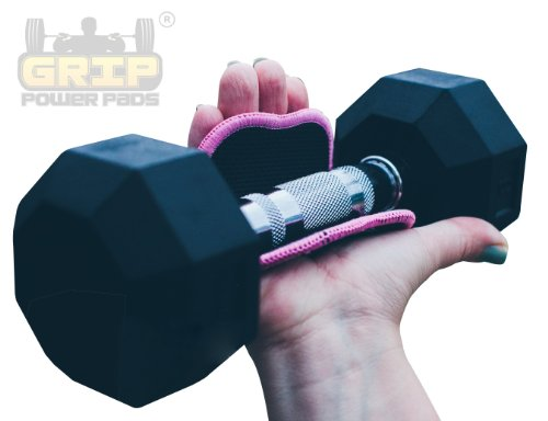 Women's Fitness Gloves Grip Power Pads FIT - Lifting Grips The Alternative To Gym Gloves Workout Gloves (Pink) by Grip Power Pads (Image #3)