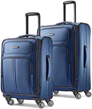 Samsonite Leverage LTE Softside Expandable Luggage with Spinner Wheels, Poseidon Blue, 2-Piece Set (20/25)
