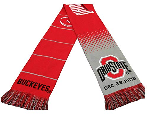 Official 2019 College Football Playoff Fiesta Bowl Ohio State Knitted Scarf