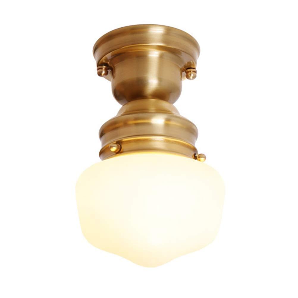 天井照明シャンデリア ペンダントライトアメリカンシャンデリア銅器具寝室の天井灯試着室クロークホームホーム吊りランプゴールド25センチ 屋内照明   B07TPTCJRS
