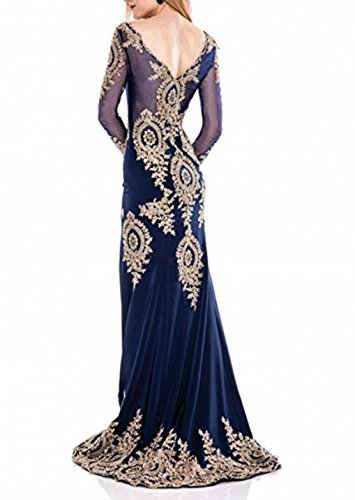 Sleeve Appliques Long Bridal Women's Prom LiCheng Evening Lace Grey Dress Mermaid Dress YZqqR