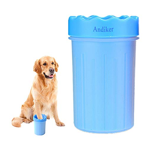 (Andiker Portable Pet Paw Washer Cup, Dog Paw Cleaner, Cat Paw Cleaner, Portable Cleaning Brush, for Dirty and Muddy Pet Paw (Large))