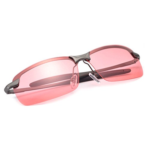 A-Royal Cool Night Vision Goggles Prevent Glare Pink Lens Driving - Australia Uvex Sunglasses