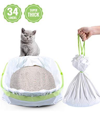 PETOCAT Litter Box Liners, 34 Count Jumbo Cat