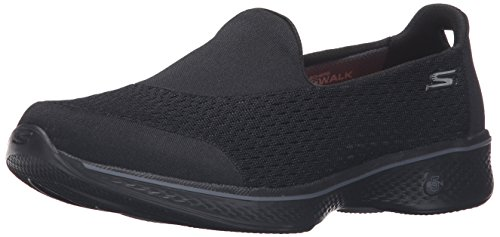 Skechers Performance Women's Go Walk 4 Pursuit Walking Shoe, Black - 9 B(M) US