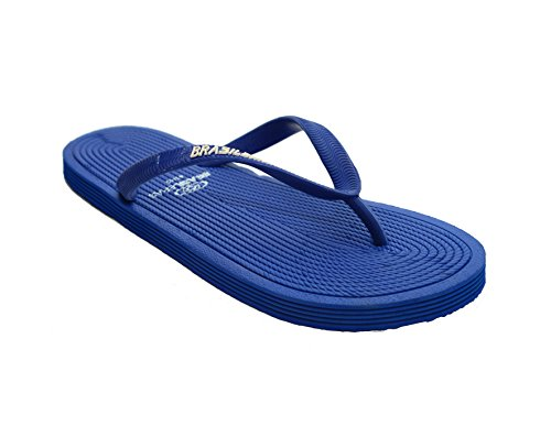 Brasileras ROP - Chanclas unisex, color azul royal, talla 37-38