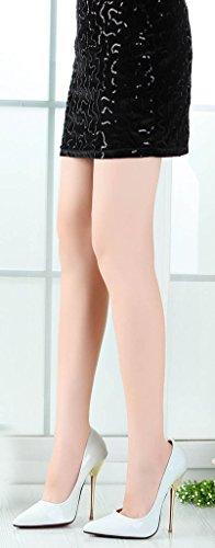 Metalli Valkoinen Camssoo Kengät Teräväkärkiset Avokkaat Korkea Kantapää Naisten Hääjuhlissa Stiletto qqXwg