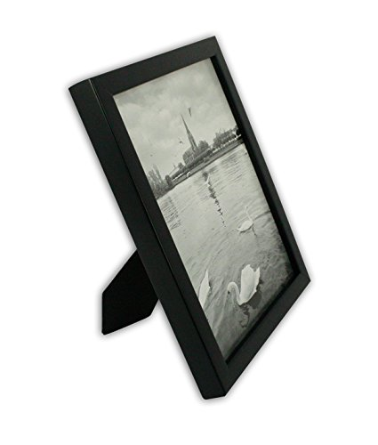 Golden State Art, Black Photo Wood Collage Frame with REAL GLASS (8x10) by Golden State Art