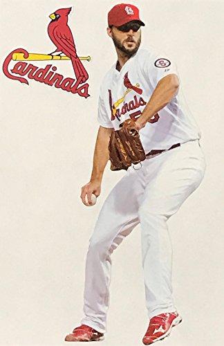 Adam Wainright Mini FATHEAD + St. Louis Cardinals Logo Official MLB Vinyl Wall Graphics 7