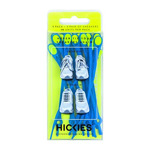 HICKIES 1.0 No-Tie Elastic Shoelaces - Blue Yellow