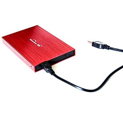 """Blueendless 2.5"""" HDD 60GB Portable External Hard Drive desktop laptop (RED) by Blueendless"""