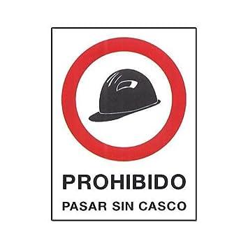 Cv Tools 0232 - Cartel pvc 40x30 prohibido pasar sin casco ...