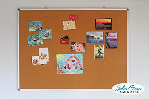 Large Cork Board 48 x 36 Inches | Silver Aluminium Frame Bulletin Board | Wall Mounted Notice Board | Full Warranty Photo #4