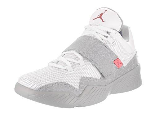 Jordan Nike Herren J23 Baskeball Schuhe Weiß / Gym Red Wolf Grey