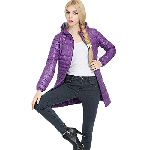 Coat Lightweight Down Women's Down Powder LJYH Purple Jackets Outwear Pillow Packable CH6Aq