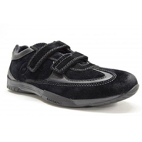 Stonefly Scarpe Sneakers Bassa Uomo CAMOSCIO Pelle Nero Velcro