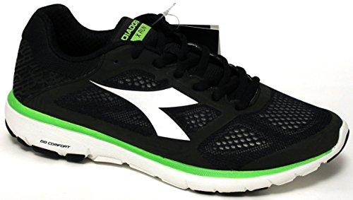 Diadora Schuhe Herren Em Execução - X Run - 171460-c5162 - Jet Schwarz / Bianco-45
