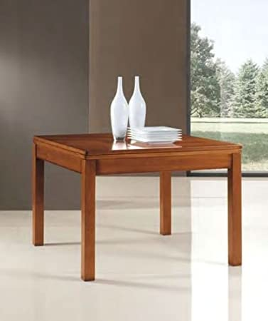 Legno&Design Tavolo cucina soggiorno allungabile quadrato apertura ...