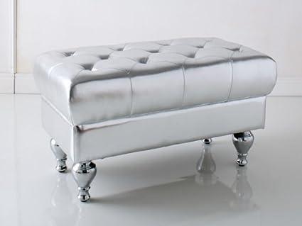 Brandani divanetto apribile capitonne deco argento skin eco pelle