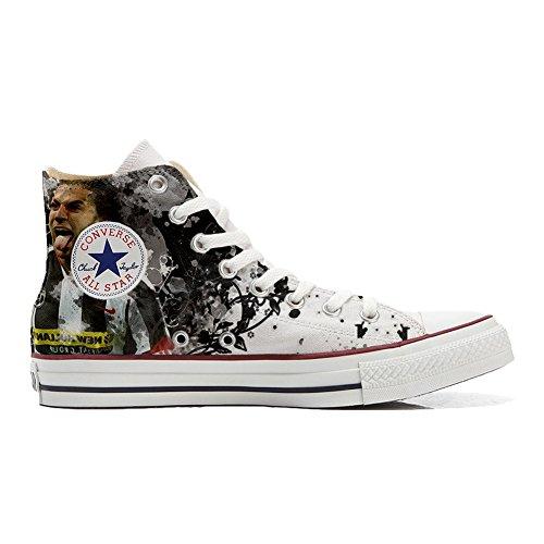 Schuhe italian soccer 2 Handwerk personalisierte Hi Converse All Star Schuhe Customized wxXqHp