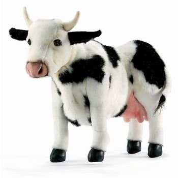 Hansa Cow Plush, Black/White