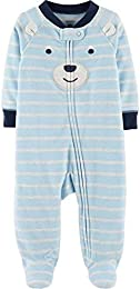 Baby Boy Bear Zip-Up Fleece Sleep   Play 3 Months