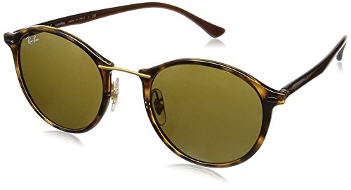 Ray-Ban Ii Light Ray Round Sunglasses, Havana, 49 - Clubmaster Ban Ray Size 49