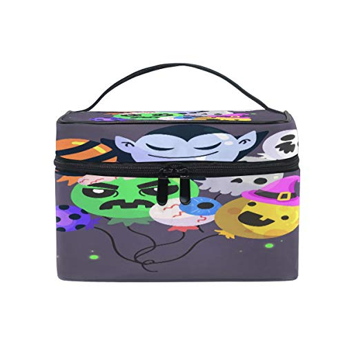 Monster Devil Emotion Women Makeup Bag Travel Cosmetic Bags Toiletry Train Case Beauty Pouch Organizer ()
