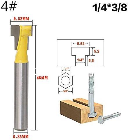 ZZB-ZT, 1pc 6mm Schaft Trimmer Reinigung Flush Trim Holz Fräser Schwalbenschwanz-Fräser Holzbearbeitung Fräser for Holz (Size : NO5)