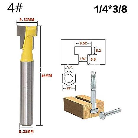 X-xiazhi 1pc 6 mm Shank Trimmer Herramientas de Limpieza Flush bit Recorte Router de Madera de Cola de Milano Fresas de Trabajar la Madera Fresas for Madera tama/ño : NO1