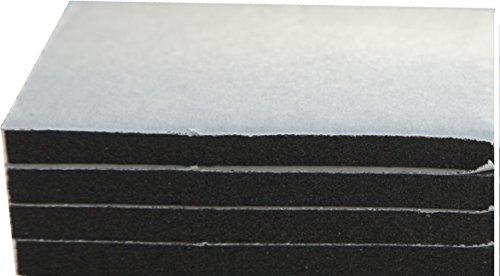 XCEL 4-Piece Sponge Neoprene Rubber Foam Anti-Vibration Pads w/Adhesive 12 in. x 12 in. x 1/4 in. by Xcel