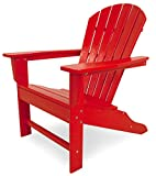 POLYWOOD Outdoor Furniture South Beach Adirondack Chair, Sunset Red-Recycled Plastic Materials For Sale