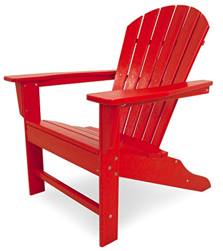 POLYWOOD SBA15SR South Beach Adirondack Chair (Seaside Casual Outdoor Furniture)