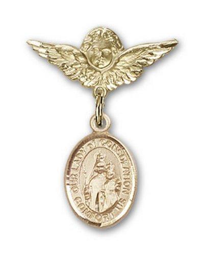 Icecarats Or Bijoux De Créateurs Rempli O / L De Charme De Consolation Ange Broche De Badge 1 X 3/4